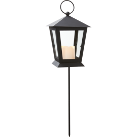 LED kapu laterna uz baterijām melna 0,04W 12x40cm Serene 064-53