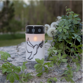 LED Memorial Candle Dove