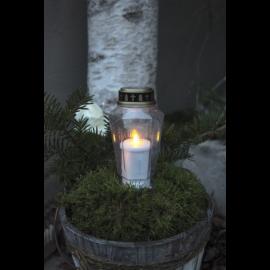 LED kapu sveces baltas 10gab. AA 0,06W 33x34cm Serene 068-99-60