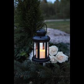 LED kapu laterna uz baterijām melna 0,03W 10x25cm Serene 064-55