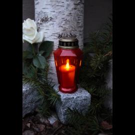 LED kapu sveces sarkanas 10gab. AA 0,06W 33x34cm Serene 068-99-61