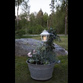 LED kapu laterna uz baterijām balta AAA 0,03W 15,5x84cm Serene 064-57