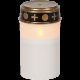 LED kapu svece uz baterijām balta AA 0,06W 7x12cm Serene 064-80