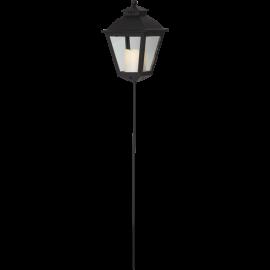LED kapu laterna uz baterijām melna AAA 0,03W 15,5x84cm Serene 064-58