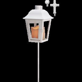 LED kapu laterna uz baterijām balta AAA 0,04W 13x50cm Serene 068-88