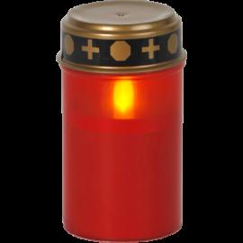 LED kapu svece uz baterijām sarkana AA 0,06W 7x12cm Serene 064-82