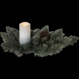 LED kapu svece uz baterijām balta AA 0,06W 33x12cm Serene 064-89