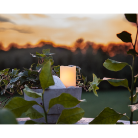 LED vaska svece uz baterijām balta 0,3W 5x7cm Flame candle 062-35