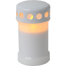 LED kapu svece uz baterijām balta C 0,06W 7,3x13,5cm Serene 067-30