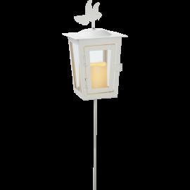 LED kapu laterna uz baterijām balta AAA 0,04W 12,5x40cm Serene 064-51