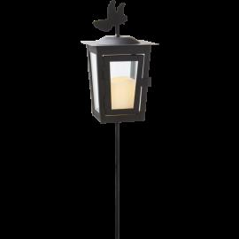 LED kapu laterna uz baterijām melna AAA 0,04W 12,5x40cm Serene 064-52