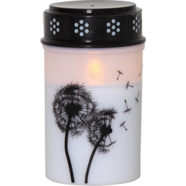 LED Grave Candle Dandelion 064-97
