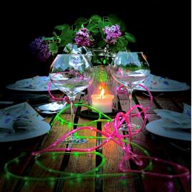 Lampiņu virtene roza 100 LED C 6,2W 500cm Tuby 857-21
