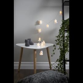 Lampiņu virtene uz baterijām balta 10 LED AA 0,26W 135cm Polly 729-25