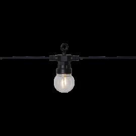 Lampiņu virtene melna 10 LED 3,6W 855x10cm Small circus filament 476-63