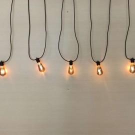 LED āra virtene 15xE27 IP65 14.4m integrēts cokols ar dūmakainām spuldzēm