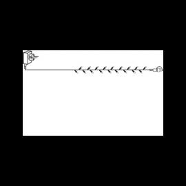 LED Virtene Dimmējamā Caurspīdīga 1000cm 100 LED Lampiņas 495-19