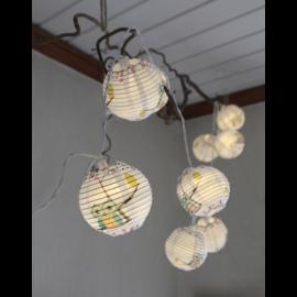 LED Virtene Ballītēm Balta 180cm 10 LED Lampiņas 726-66