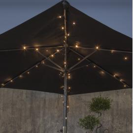 Lampiņu virtene uz baterijām melna 64 LED AA 3,84W 270cm Akku 727-04