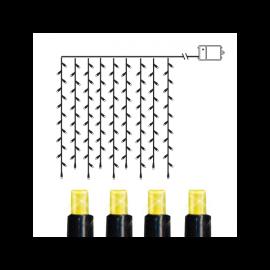 Lampiņu virtenes aizkars ar silti baltu gaismu 120 LED AA 0,05W 110x100cm 727-72