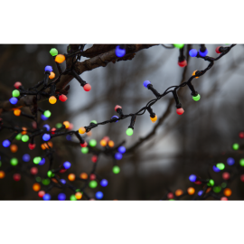 Lampiņu virtene melna multi 300 LED 3,6W 600cm Berry mini 472-51
