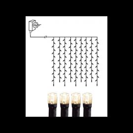 Lampiņu virtenes aizkars ar silti baltu gaismu 100 LED 3,6W 100x100cm 591-85
