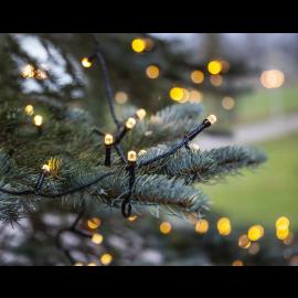 Lampiņu virtene melna 200 LED 3,6W 1500cm Diamond star light 457-06