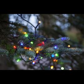 Lampiņu virtene melna multi 200 LED 3,6W 1500cm Diamond star light 457-07