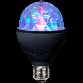 LED disko spuldze E27 3W 8x13cm Disco led E27 361-42