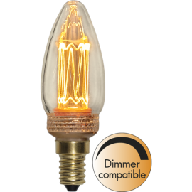 LED Spuldze C37 E14 1800K 70lm 2,3W 3,5x10,3cm 349-01-1