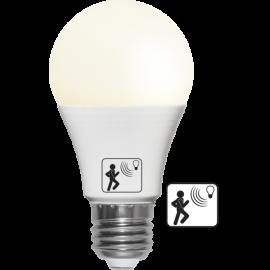 LED Spuldze ar kustības sensoru A60 E27 2700K 470lm 4,8W 6x10,8cm 357-08-1