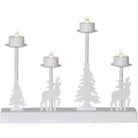 LED Metāla Lampiņu Svečturis 188-72