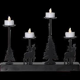 LED Metāla Lampiņu Svečturis 188-73