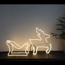 LED Āra gaismas siluets briedis ar kamanām 25,8W 90x50cm Neoled 807-42