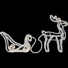 LED Ziemassvētku āra gaismas dekors briedis 1,13W 100x35cm Tuby deer 803-63