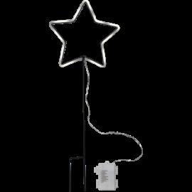 LED Āra gaismas dekors zvaigzne uz baterijām 0,5W 22x58cm Neonstar 857-06