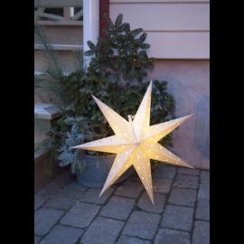 LED plastmasas zvaigzne karināma balta AA 0,43W 60x60cm Alice 505-01