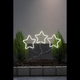 LED Āra gaismas dekors zvaigzne uz baterijām 220x60cm Neonstar 857-07