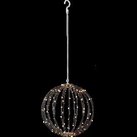 LED gaismas dekors karināms melns 2,4W 40x40cm Mounty 860-96