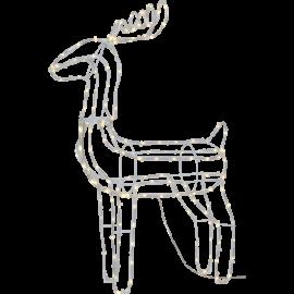 LED Ziemassvētku āra gaismas dekors briedis 1,3W 54x82cm Tuby deer 803-65