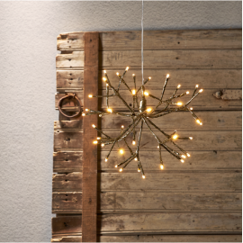 LED Gaismas dekors salūts karināms zelta 1,44W 30x27cm Firework 710-24