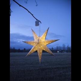 LED plastmasas zvaigzne karināma sudraba AA 0,43W 60x60cm Alice 505-02