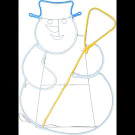 LED Āra gaismas dekors sniegavīrs 11,8W 52x78cm Neoled 806-97