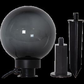 Āra gaismas dekors melns 1xE27 20x24cm Orby 803-87