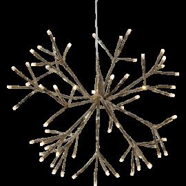 LED Gaismas dekors salūts karināms zelta 1,92W 40x40cm Firework 710-25
