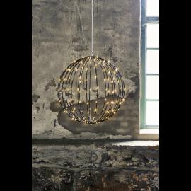 LED gaismas dekors karināms melns 3W 50x50cm Mounty 860-97