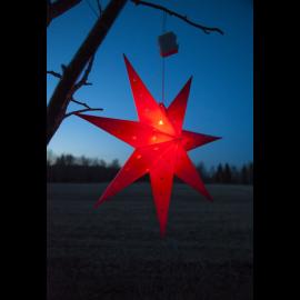 LED plastmasas zvaigzne karināma sarkana AA 0,43W 60x60cm Alice 505-03
