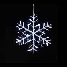 LED Āra gaismas dekors sniegpārsla karināms 3,6W 40x40cm Antarctica 583-91