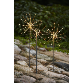 LED Āra gaismas dekori salūti 3gab. 2,7W 200x65cm Firework outdoor 860-38