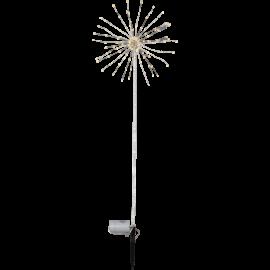LED Āra gaismas dekors salūts ar baterijām balts 1,8W 114cm Firework outdoor 860-39